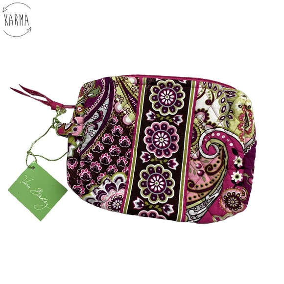 Vera Bradley Medium Cosmetic Paisley Bag L15. NWT 52787a750f7c5
